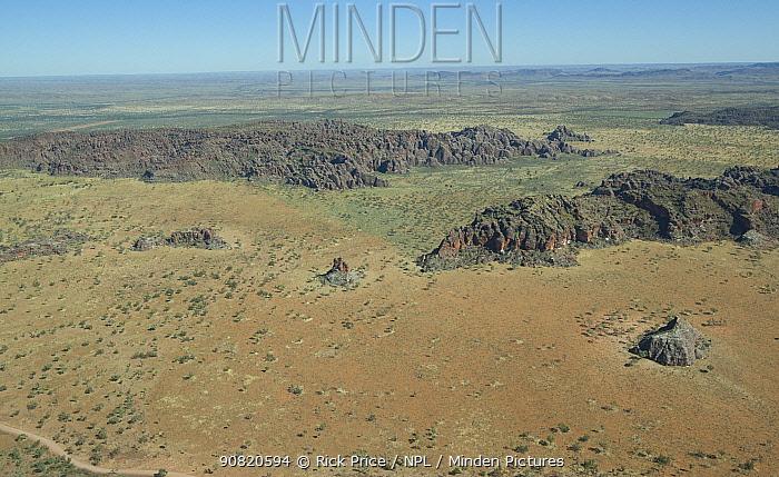 Bungle Bungle rock formations, aerial view. Purnululu National Park, The Kimberley, Western Australia. 2015.
