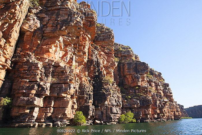 Cliffs on King George River. Koolama Bay, The Kimberley, Western Australia. 2015.