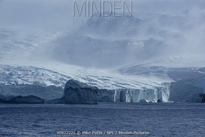 Coastal glacier on east coast of Buckle Island, Balleny Islands, Antarctica. January 2018.