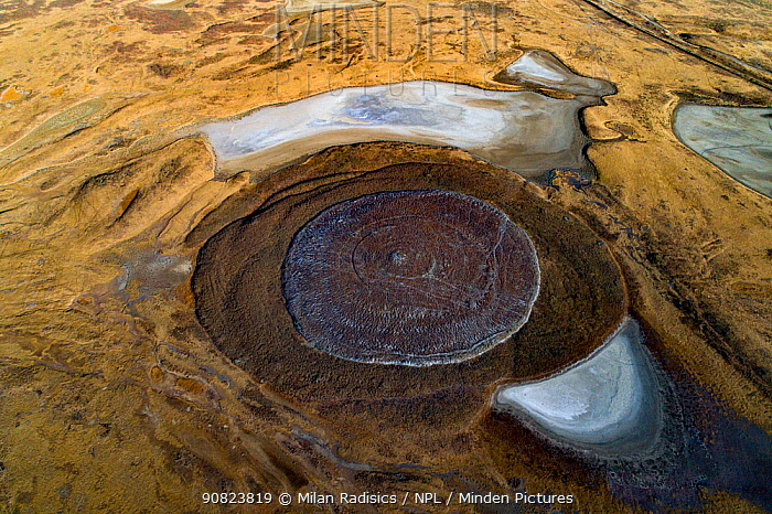 Mud volcano, Azerbaijan.