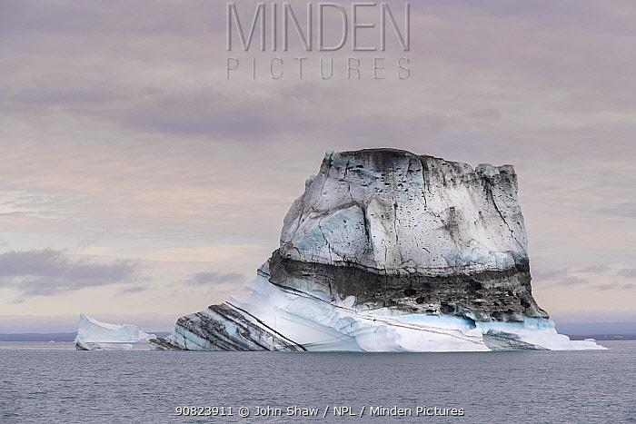 Iceberg in Hall Bredning, Scoresby Sund, Greenland, August.
