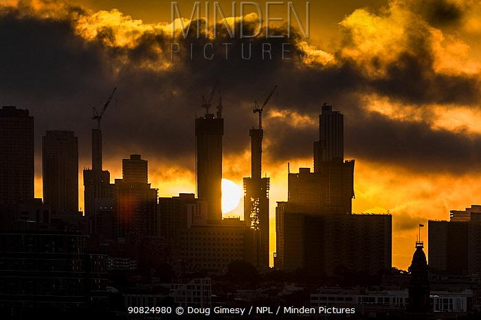 Sunset over Melbourne city. ?Melbourne, Victoria, Australia.? March 2017