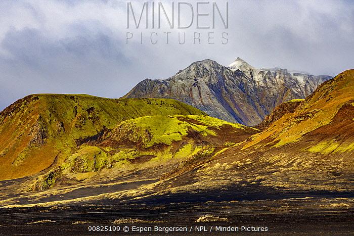 Landscape close to Landmannalaugar. Iceland October 2017