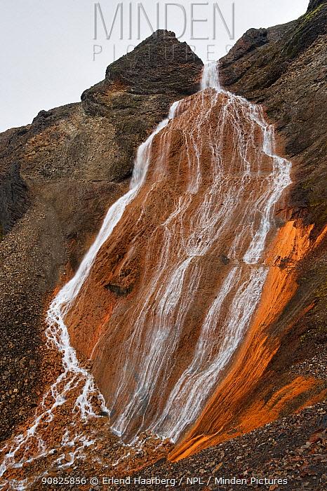 The Raudufossar / Red Falls waterfall, Fjallabak Nature Reserve, Iceland, August 2010