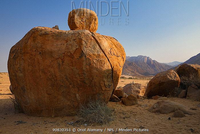 Rocky outcrops near Brandberg mountain, Damaraland, Namibia, September