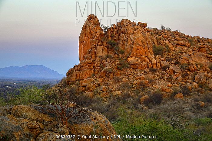 Granite mountains in Erongo Conservancy, Namibia, October