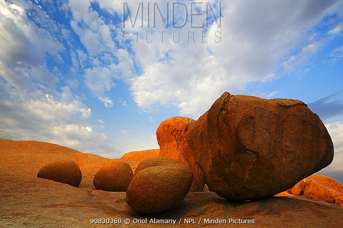 Granite boulders in Spitzkoppe mountains, Namib Desert, Namibia, October