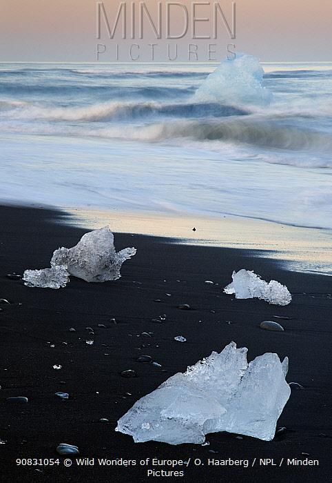 Glacier ice on the sea shore, rfi / Oraefi, Iceland, June 2008