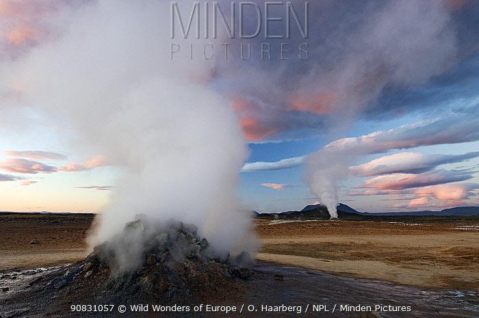 Volcanic activity, Steam vent, Hverir, Nmafjall, Iceland, July 2008