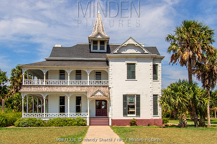 Rabb Plantation House, Sabal Palms Sanctuary, Brownsville, Texas, USA. July 2019.
