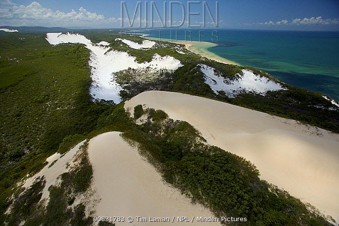 White sand dunes, Cape Flattery, Cape York Peninsula, Queensland, Australia. March 2013