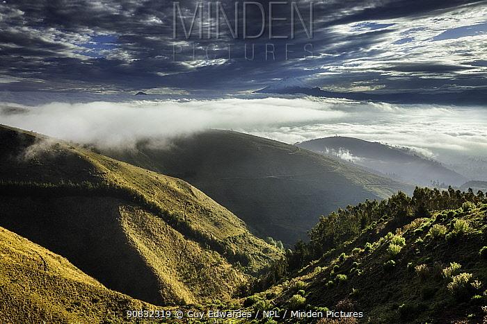 Early morning view to Cotopaxi Volcano, Valley Latacunga, Ecuador, September 2010