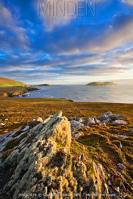 View towards the Blasket Islands from Clogher Head, Dingle Peninsular, Co. Kerry Republic of Ireland, September 2007.