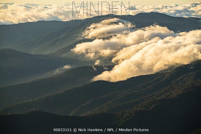View of the Talamanca mountain range, Costa Rica.