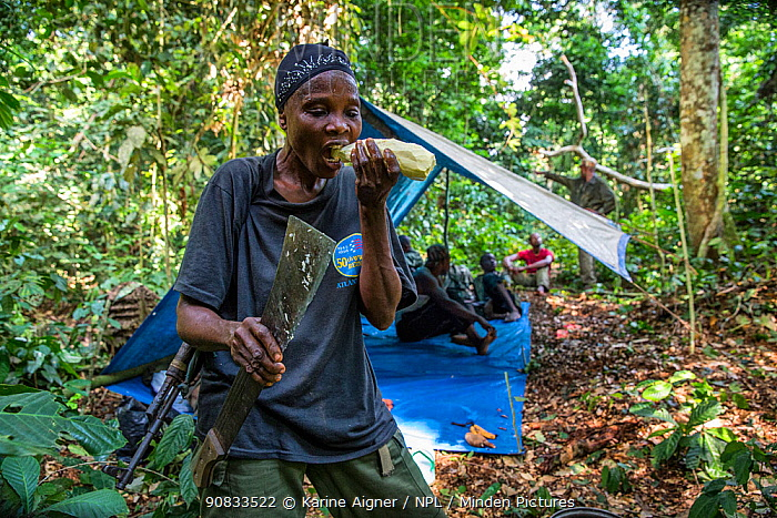 Portrait of female ecoguard / ranger Salonga National Park, Salonga National Park, Democratic Republic of Congo. May 2017. There are 16 women who work as Ecoguards in Salonga National Park