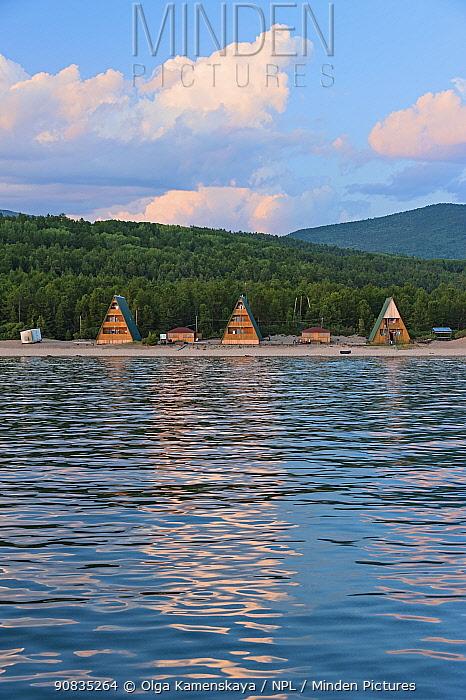 Khakusy , health resort with hot springs, located in the north of Buryatia Lake Baikal, Siberia, Russia. July.
