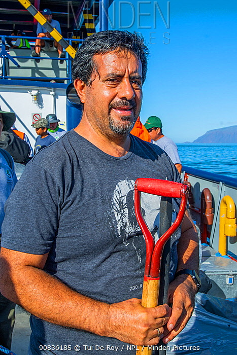Washington (Wacho) Tapia, director of the Giant Tortoise Restoration Initiative and leader of the Wolf expedition Wolf Volcano, Isabela Island, Galapagos