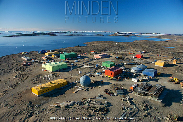 Aerial view of Davis Station, Antarctica, 2007.