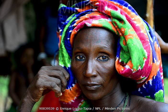 Portrait of Kanou moudji woman, nomadic herders of southern Chad. September 2019.