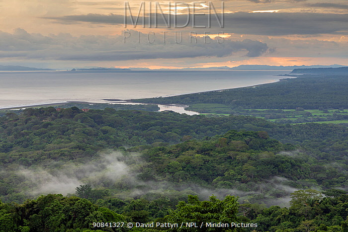 View over the Pacific Ocean where the Tarcoles River enters the ocean. Carara National Park, Tarcoles, Costa Rica