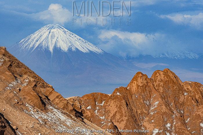 Valley de La Luna (Valley of the Moon) in the Los Flamencos National Park, near San Pedro de Atacama, Chile.