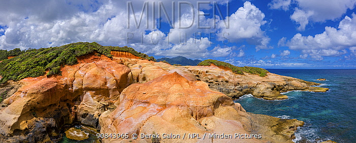 Rocky coastline, Red Rock, Dominica, Lesser Antilles, 2020.