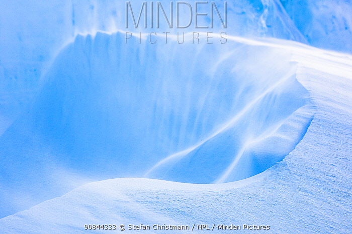 A deep gulley in the ice, Atka Bay, Antarctica. August. Bookplate.