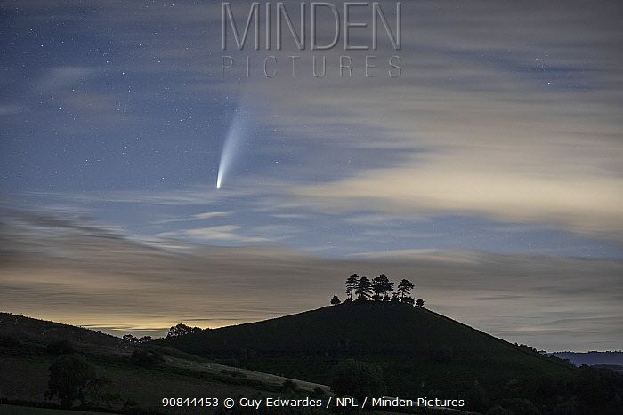 Comet C/2020 F3 Neowise over Colmer's Hill , Bridport, Dorset, UK. July 2020