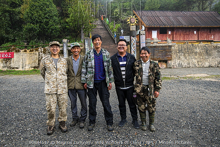 Gibbon search team in Gaoligong Mountains National Nature Reserve, Yunnan Province, China