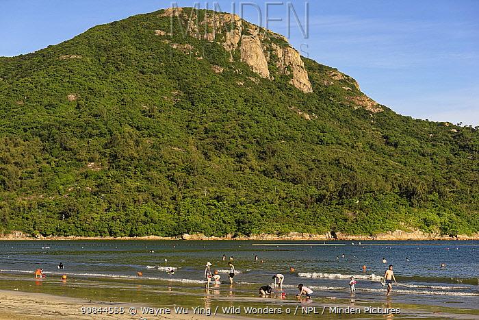 Pui O beach, Lantau Island, Hong Kong, China