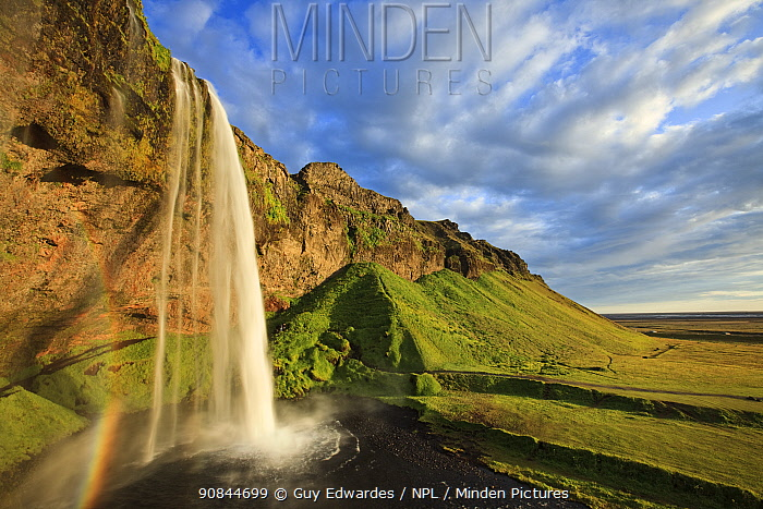 Seljalandsfoss waterfall. Southern Iceland. July 2009.