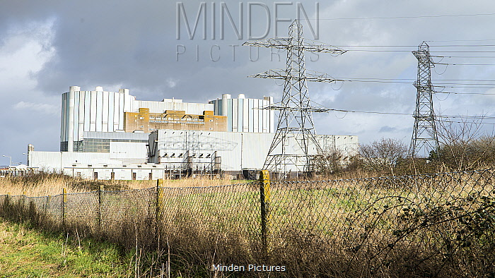 Oldbury nuclear power station, now disused, sited on Severn Estuary at Olbury-on-Severn near Bristol, UK, March 2020,
