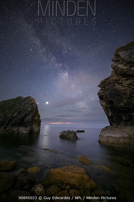 The Milky Way over Stair Hole, Lulworth, Dorset, England, UK, June 2020.