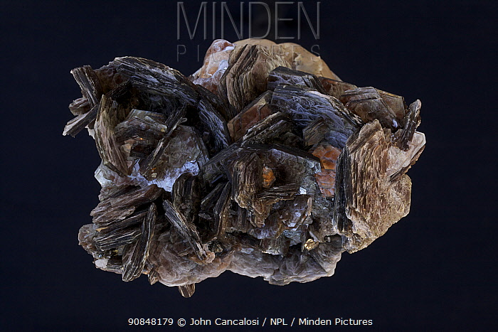 Muscovite (Mica), one of the most common minerals in the earth's crust, having wide economic importance. Sample from Minas Gerais, Brazil.