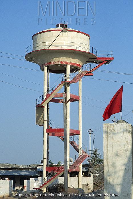 Water tower, Rajasthan, India.