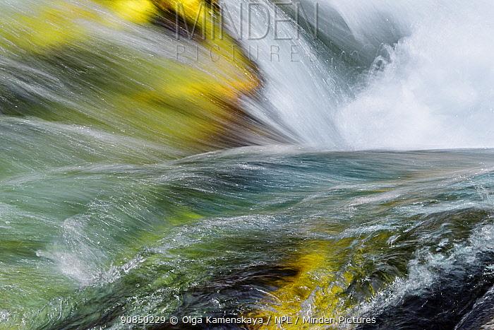 Boulders fast flowing river, Valle Verzasca, Canton of Ticino, Switzerland