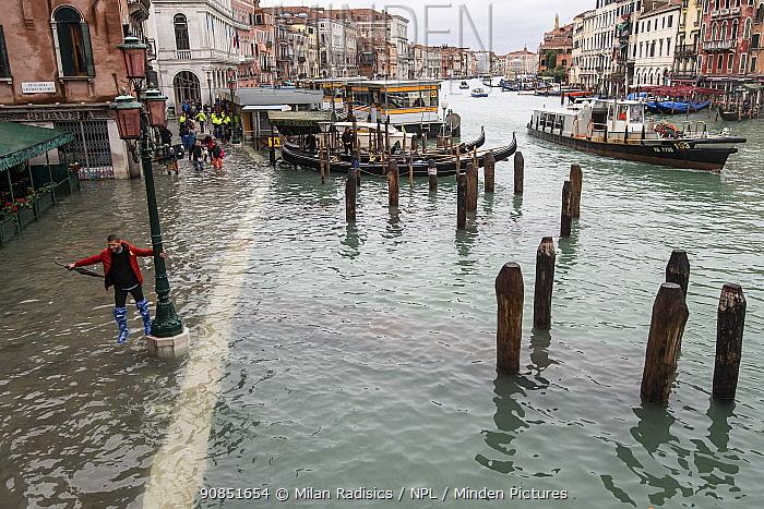Flooding in Venice, Italy, December 2019.