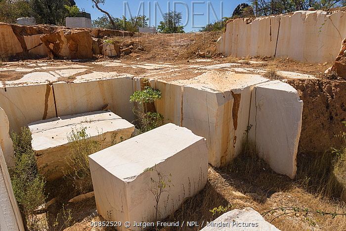 Slabs of rock in marble quarry. Chillagoe, Mareeba, Far North Queensland, Australia. 2015.
