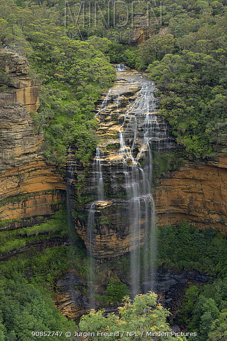 Wentworth Falls, Blue Mountains National Park, New South Wales, Australia. 2020.