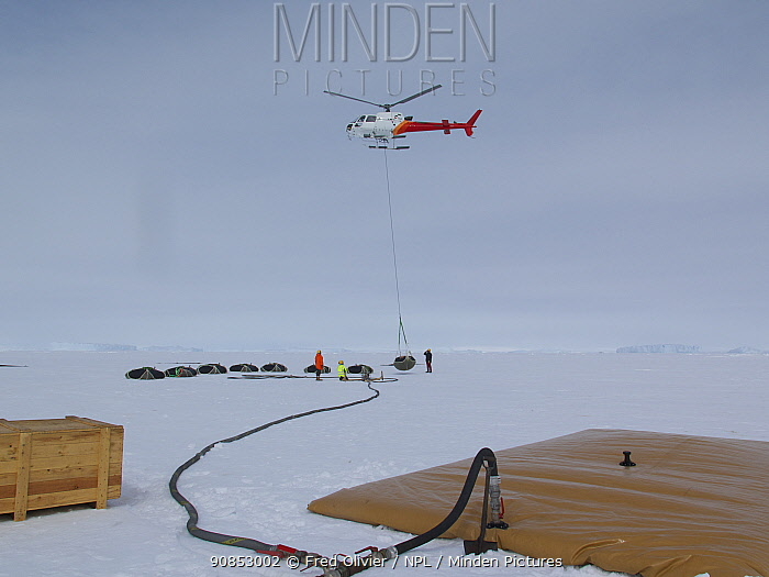 Aerial refuelling of Dumont d'Urville station, Antarctica. December 2014