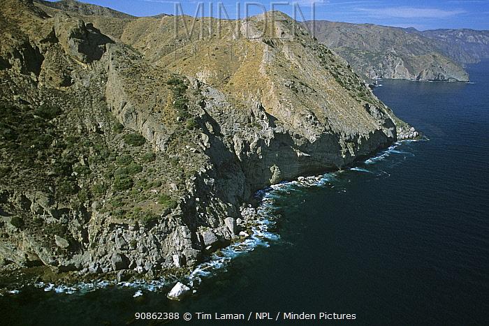 Aerial view of the Santa Cruz Islands, California. July 2002.