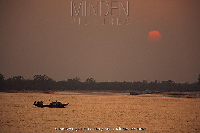 Sunset on the Kholpatura River, Sundarbans, Khulna Province, Bangladesh, March 2006