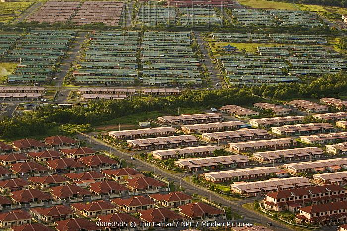Aerial views of new housing developments, Kuching vicinity, Sarwak, Borneo, Malaysia, June 2006