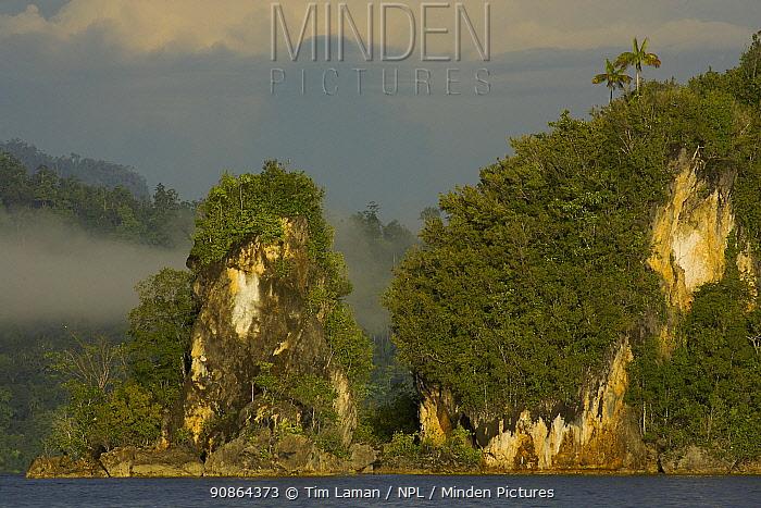 Limestone islets within Mayalibit Bay, Waigeo Island, West Papua, Indonesia, April 2007