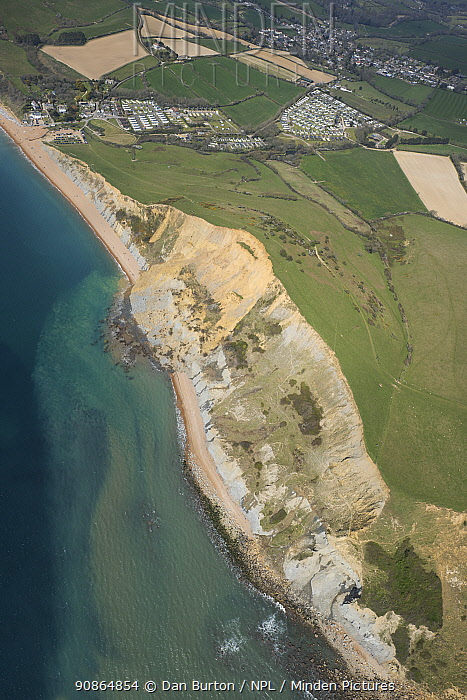 Sandstone cliff which collapsed on the 13th April 2021 between Seatown and Eype Beach in Dorset, UK. This was the largest such incident in the UK in the past 60 years. The cliff lost 300m of rock and sand and an estimated 4000 tonnes fell to the beach.