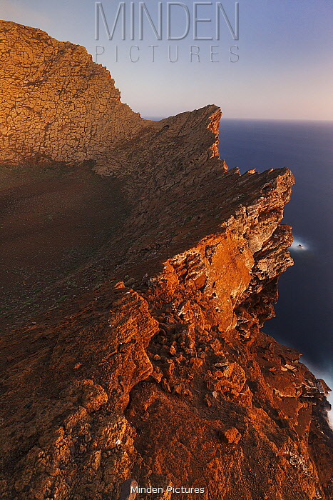 Rim of the volcanic crater, Zapato Islet, Guadalupe Island Biosphere Reserve, off the coast of Baja California, Mexico, September