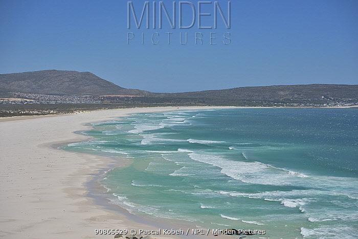 Beach on False Bay, Western cape, South Africa. Atlantic Ocean.
