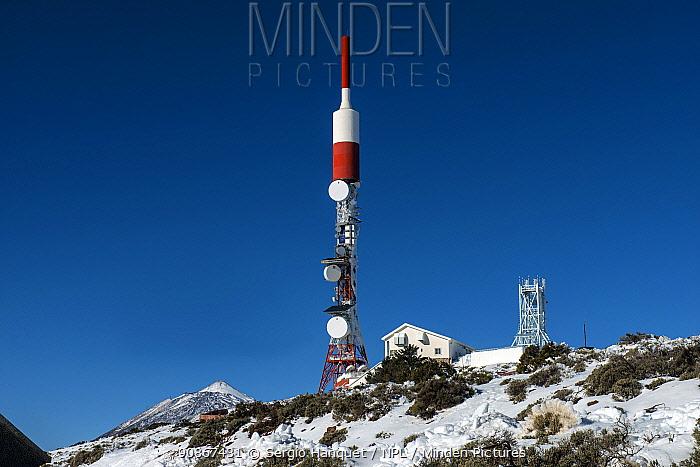 Izana repeater antenna. Teide National Park, UNESCO World Heritage Site, Tenerife, Canary Islands.