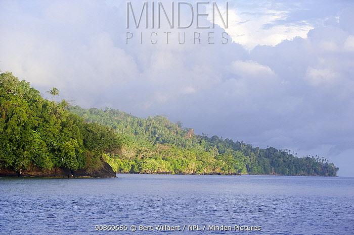 Forested coastline of the Witu Islands, Bismarck Sea, Papua New Guinea, December