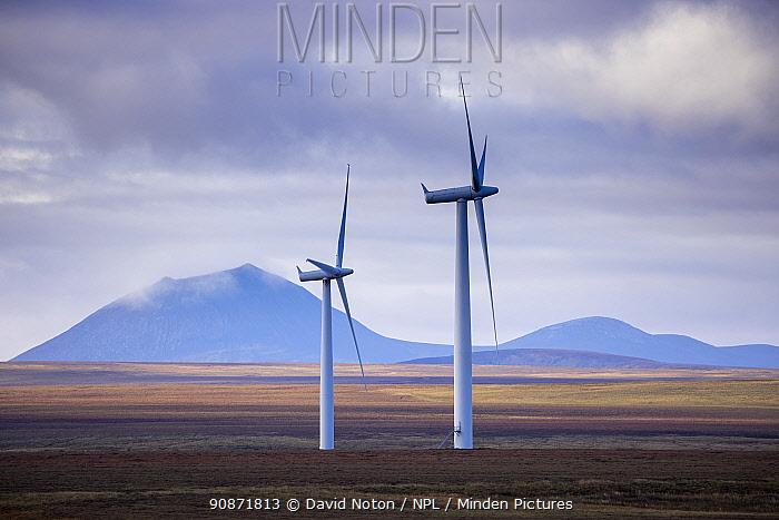 Wind farm at Sibster Burn, near Halkirk, Caithness, Scotland. October 2020.